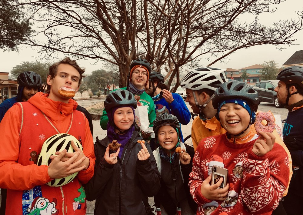 raindrops, bikes, and donuts