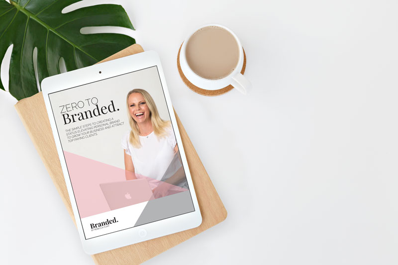 ZERO TO BRANDED. - THE ULTIMATE GUIDE TO LAUNCHING YOUR PERSONAL BRANDI've created the ultimate digital guide to show you how to create a status elevating visual brand to grow your business and attract top paying clients. This comprehensive step by step process gives you over 100 tips to start your brand journey today!