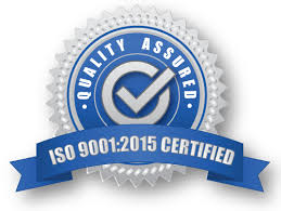 ISO 9001:2015 certified, Certification No. 0616-375