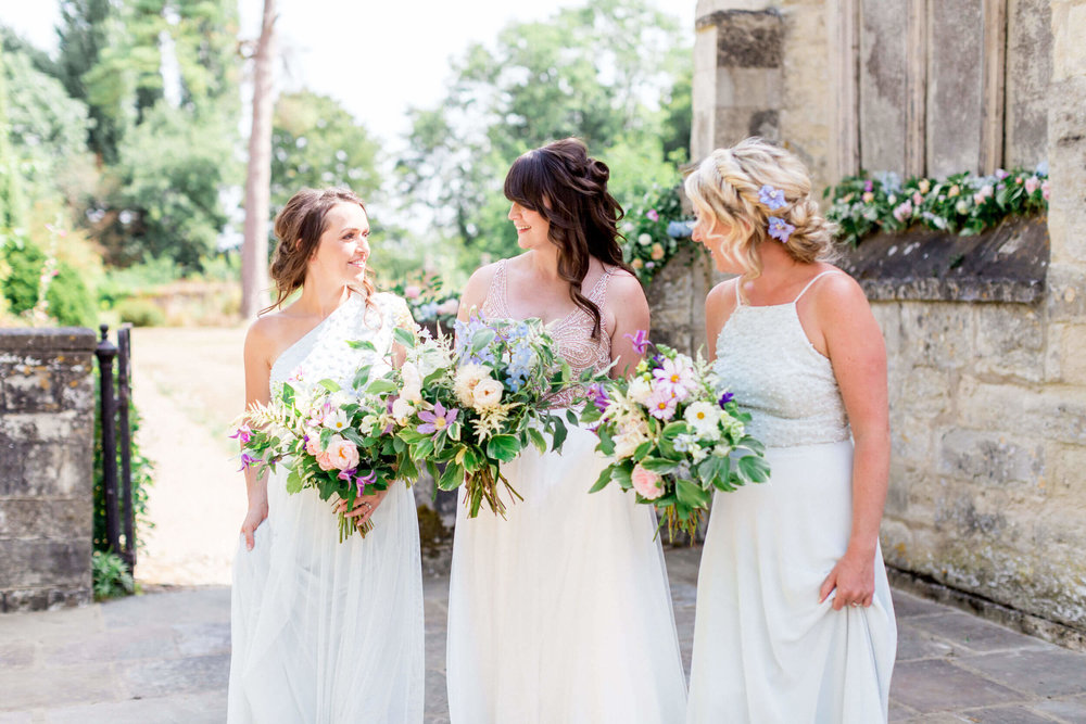 Bride and Bridesmaids Nether Winchendon House