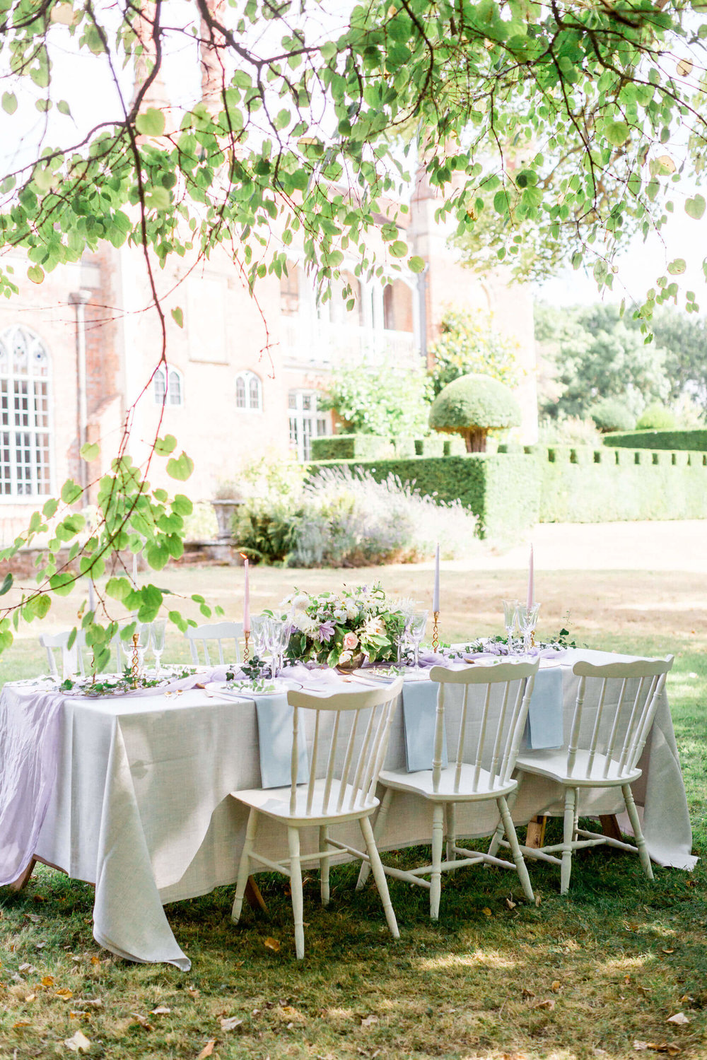 Wedding Breakfast Table at Nether Winchendon House