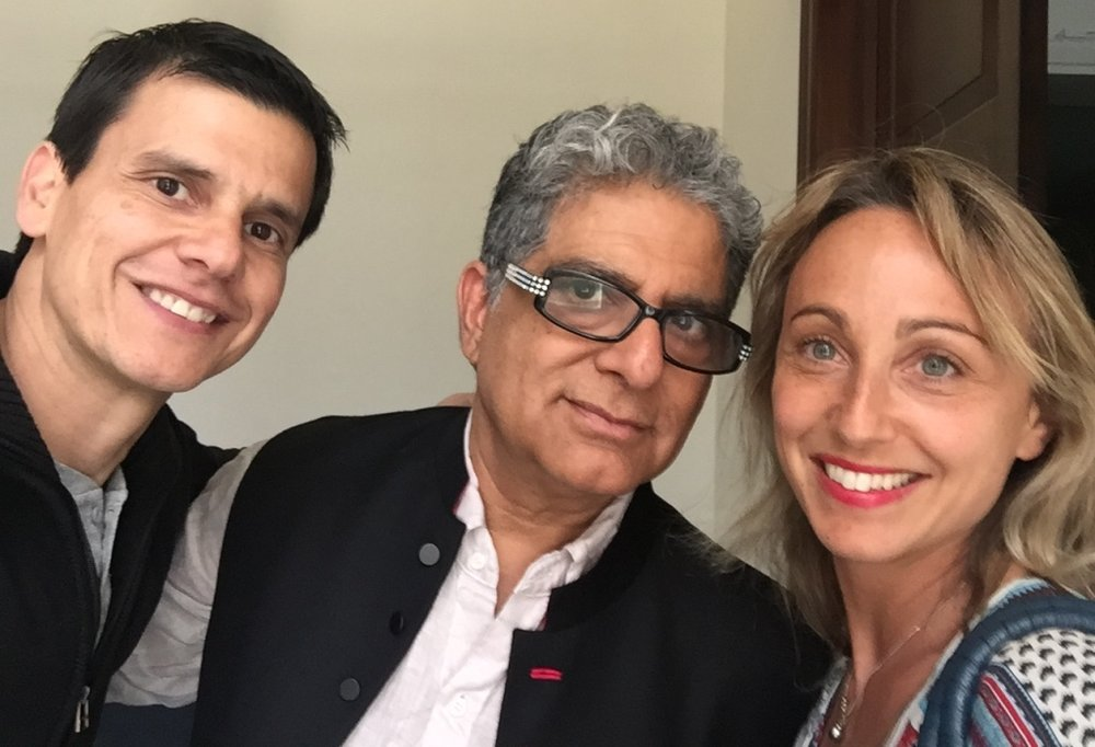 With teaching partner César Gamio and Deepak Chopra