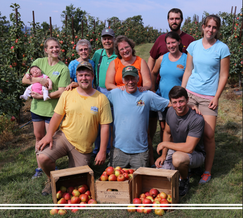 Second, third, fourth, and fifth generations of Schlegel farmers,