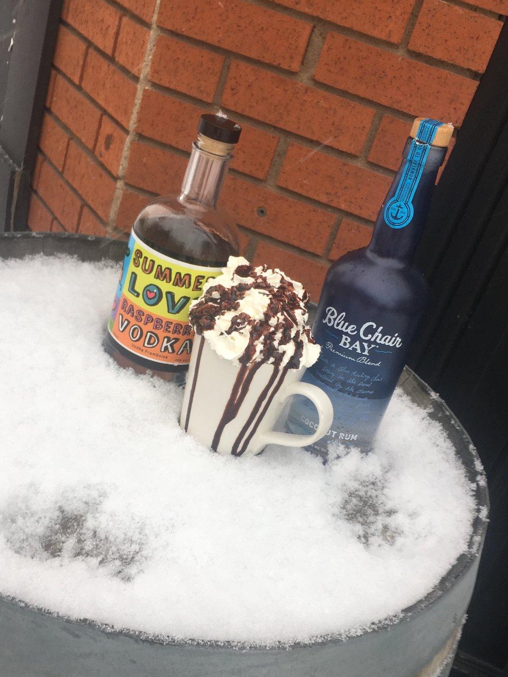 Coconut & Raspberry Hot Chocolate -