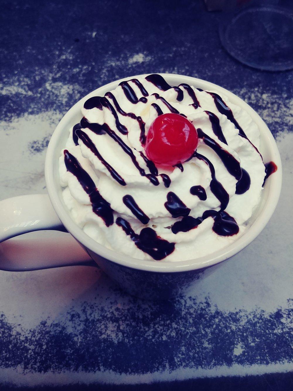 Banana Split Hot Chocolate -