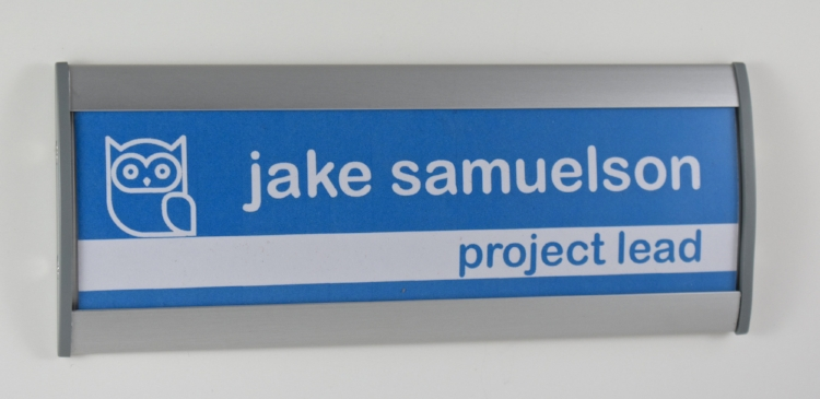 """example of 2.5""""x8.5 nameplate"""