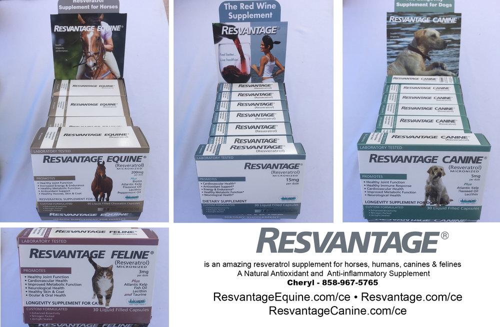 Order Your Resvantage Equine at  www.ResvantageEquine.com/ce  Resvantage Human at  www.Resvantage.com/ce  or Resvantage Canine at  www.ResvantageCanine.com/ce
