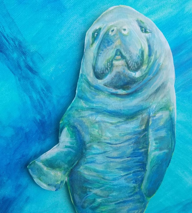 A fun one...from Photoshopping together pieces of different manatee images...
