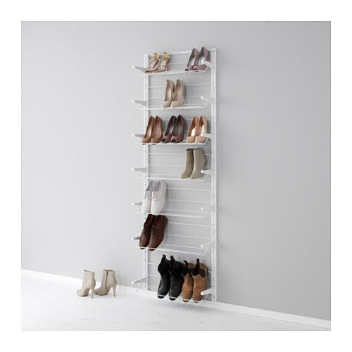 10. Vertical Shoe Rack - Don't have anywhere to put all of your shoes? Don't fret! Try a vertical shoe rack! It will organize your shoes neatly, look great, and keep those shoes from being all over the floor!