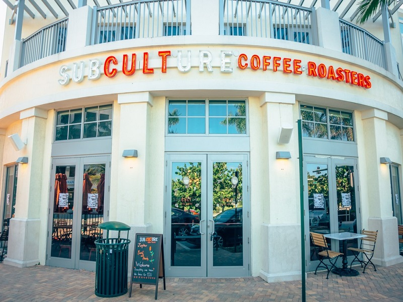 Subculture Coffee - This one is pretty new to town, but it's well known in West Palm and Delray that Subculture Coffee doesn't disappoint. With events like Trivia Night and live music performances, you can sip on a vanilla cappuccino while listening to some good jams. Better yet, Subculture sells wine and beer for those who aren't in the mood for a cup of joe. They also have pastries and desserts that will satisfy your sweet tooth! So check out Subculture Coffee located in Harbourside Place for a trendy local coffee shop vibe and a cup of java you won't regret.