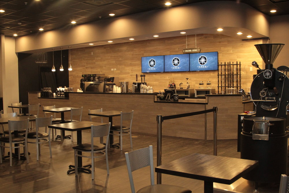 Crux Coffee Roasters - If you're an Abacoa-dweller, or you're in downtown abacoa for a bite to eat or some shopping, stop for a cup of joe at Crux Coffee Roasters. They serve breakfast, lunch, drinks, and of course, coffee. So check out their modern decor and speciality drinks if you're looking for a local shop that serves coffee from around the world!