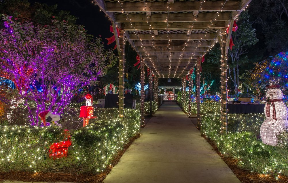 "4.Hoffman's Chocolate Winter Wonderland in Lake Worth, FL - This may be a bit of a drive for the Jupiter locals, but in Lake Worth, a gorgeous scene of Christmas is born. Mr. and Mrs. Claus visit everyday to see the nice children and their wishes. This spot is sure to entertain the whole family with a ""magical display of ten thousand lights in the gardens including a gazebo, cascading fountains, live fish, electric trains and animated displays including a life size camel in the mangerscene"" (PalmBeachPost.com)."
