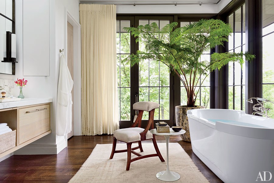 6. Go Green - An easy and inexpensive way to spruce up any space into a place guests will love to spend time in is to add greenery! Green plants brighten your home and give off friendly and welcoming vibes.Try adding a rubber tree or a dieffenbachia plant to your living space to complete your decor.