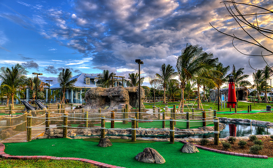 2. Mini Golf - For all those couples who are up for a little friendly competition, check out Lighthouse Cove Adventure Golf in Jupiter. Play 18 holes of mini-golf and then grab a burger or ice cream at their on-site restaurant and ice cream shop. So challenge your significant other to a game this Valentine's Day!