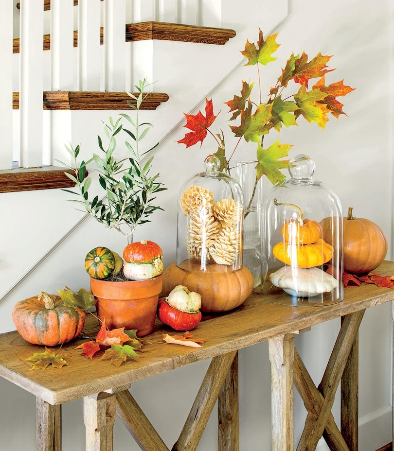2. All the Pumpkins - Pumpkins are PERFECT for spicing up your home decor for the autumn season. They are great for mantels, tables, countertops, and pretty much anywhere else in your home! Create a display like this one and your guests will surely be impressed!