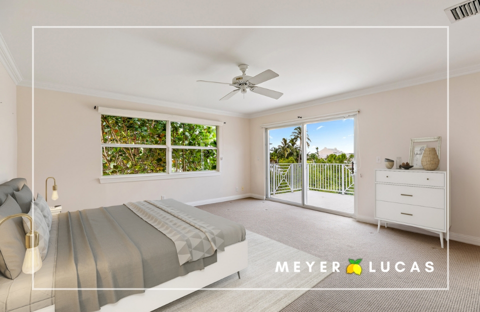 - Retreat to your HUGE master suite (the entire upstairs!) and enjoy Intracoastal views from the deck, office, and master bedroom. A huge walk-in closet caps off your owner's wing, which could be easily expanded or extended to offer more view and even more square footage!