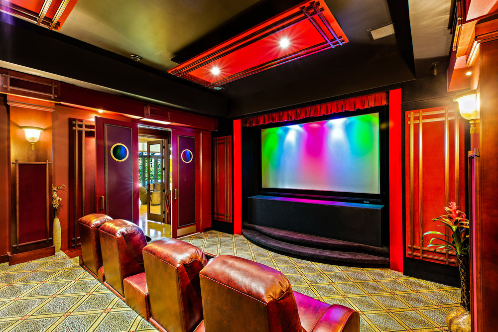 - The crown jewel of this property is arguably the custom ''Petit Cinema'' - a jaw-dropping home theater, with eight leather recliners, a real ticket booth, concession area with beverage cooler, and Sony 4K Ultra HD projector with high definition capabilities that will show every single detail of the big game, the latest action flick, or your favorite TV show up close and personal on a custom, expansive 118