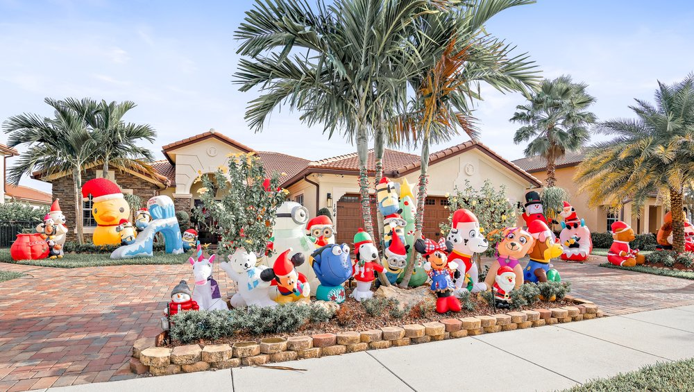 - The Silva's home has a local reputation as the go-to holiday favorite for parents of small children in Jupiter. Starting the day after Thanksgiving, an infamous display of inflatable holiday characters can be found holding the Silva's front yard hostage in the cutest imaginable way - from Santa Mickey to Hank the Septopus, an array of holiday favorites can be enjoyed by adults and children alike.