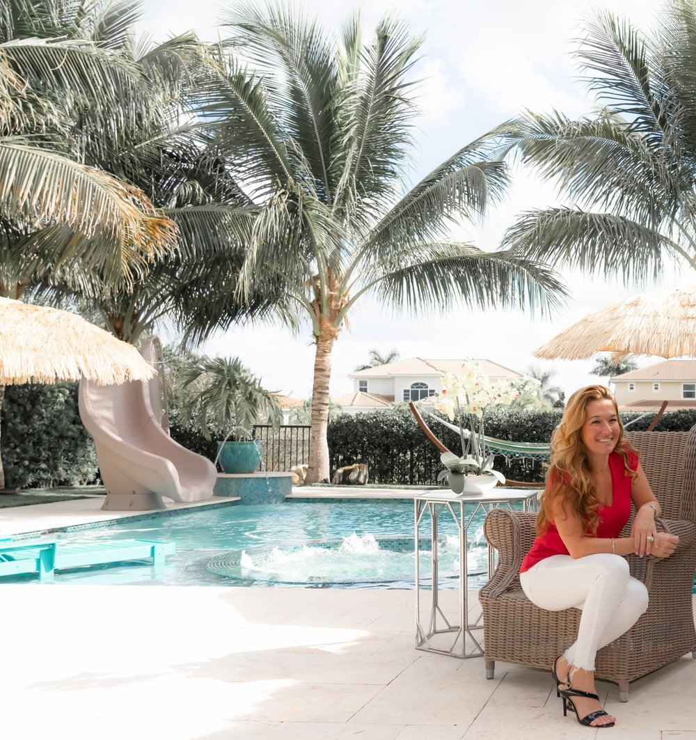 """2. What is your favorite space in your home? - """"Entertaining our family and friends is one of our passions. Since South Florida has amazing weather year round, we love hosting guests in our outdoor space.""""- Larissa Silva"""