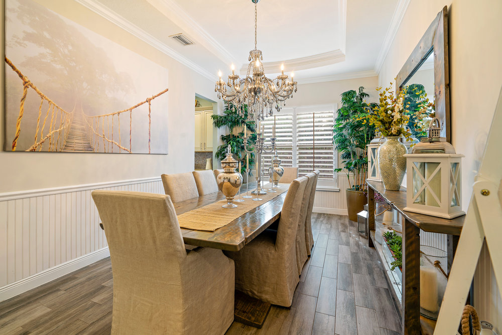 """3. What's your favorite furniture piece or design element? - """"My favorite piece of furniture in our home has immense sentimental value — our custom made dining room table."""""""
