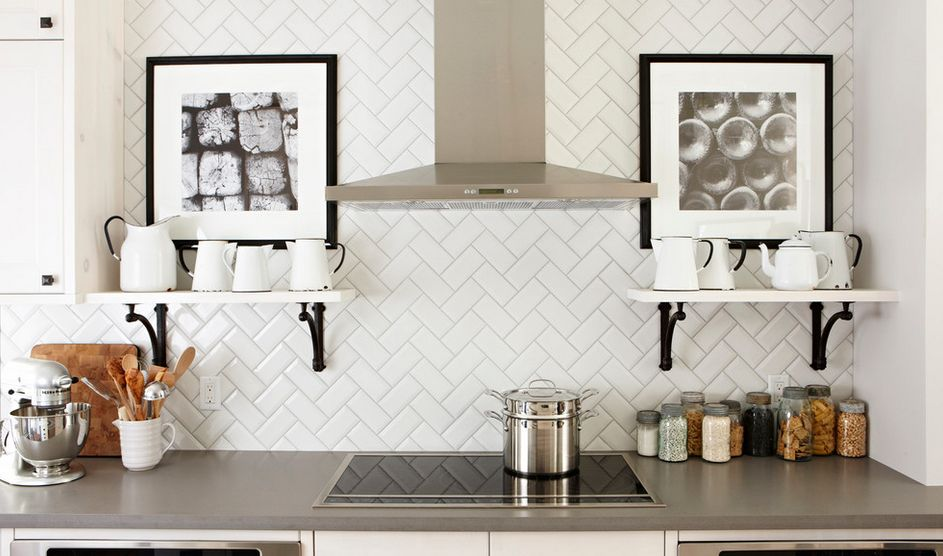 3. Herringbone, chevron, and stacked patterns. - These stacked patterns are soaring past the subway tile look in popularity and we are all for it!