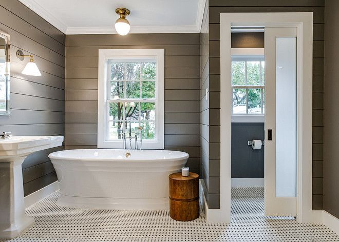 4. Shiplap - Shiplap is absolutely stunning and an awesome way to add some interior design vibes in any space that needs a lift. We love this look of a shiplap bathroom!