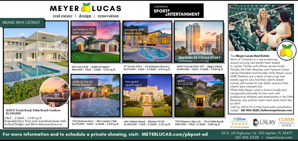 Palm Beach Post - Meyer Lucas Real Estate Ad