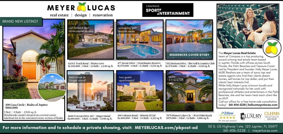 Meyer Lucas Real Estate Palm Beach Post