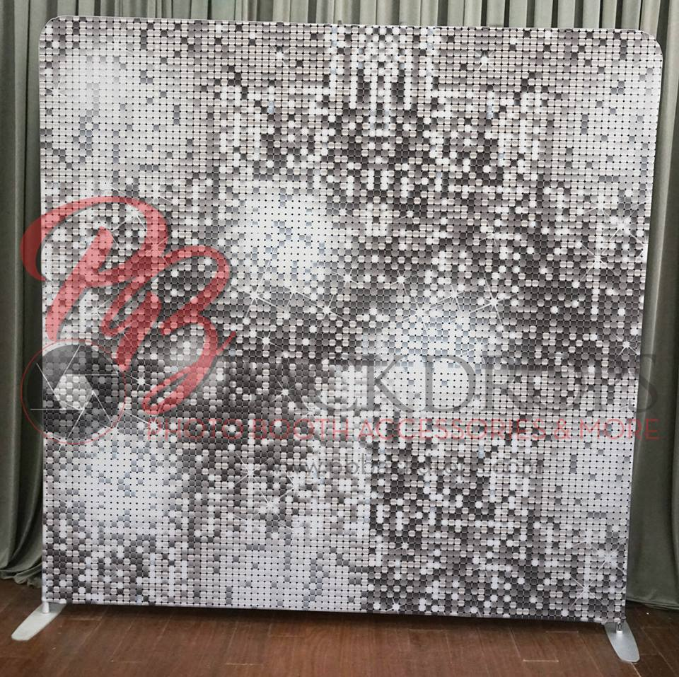 Princeton Photo Booth Silver Sequin Backdrop