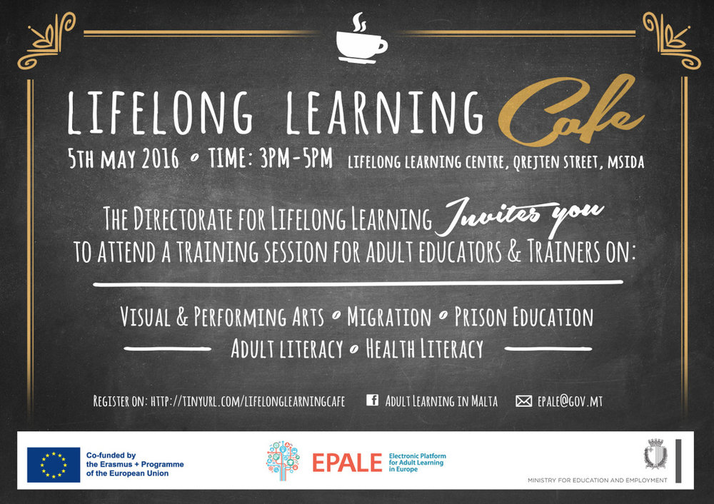 EPALE Lifelong Learning Cafe - 5th May 2016