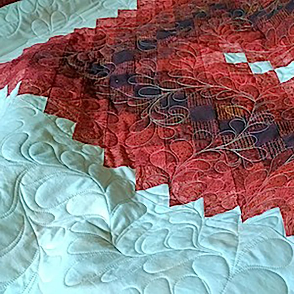 Free-Motion Feather Quilting