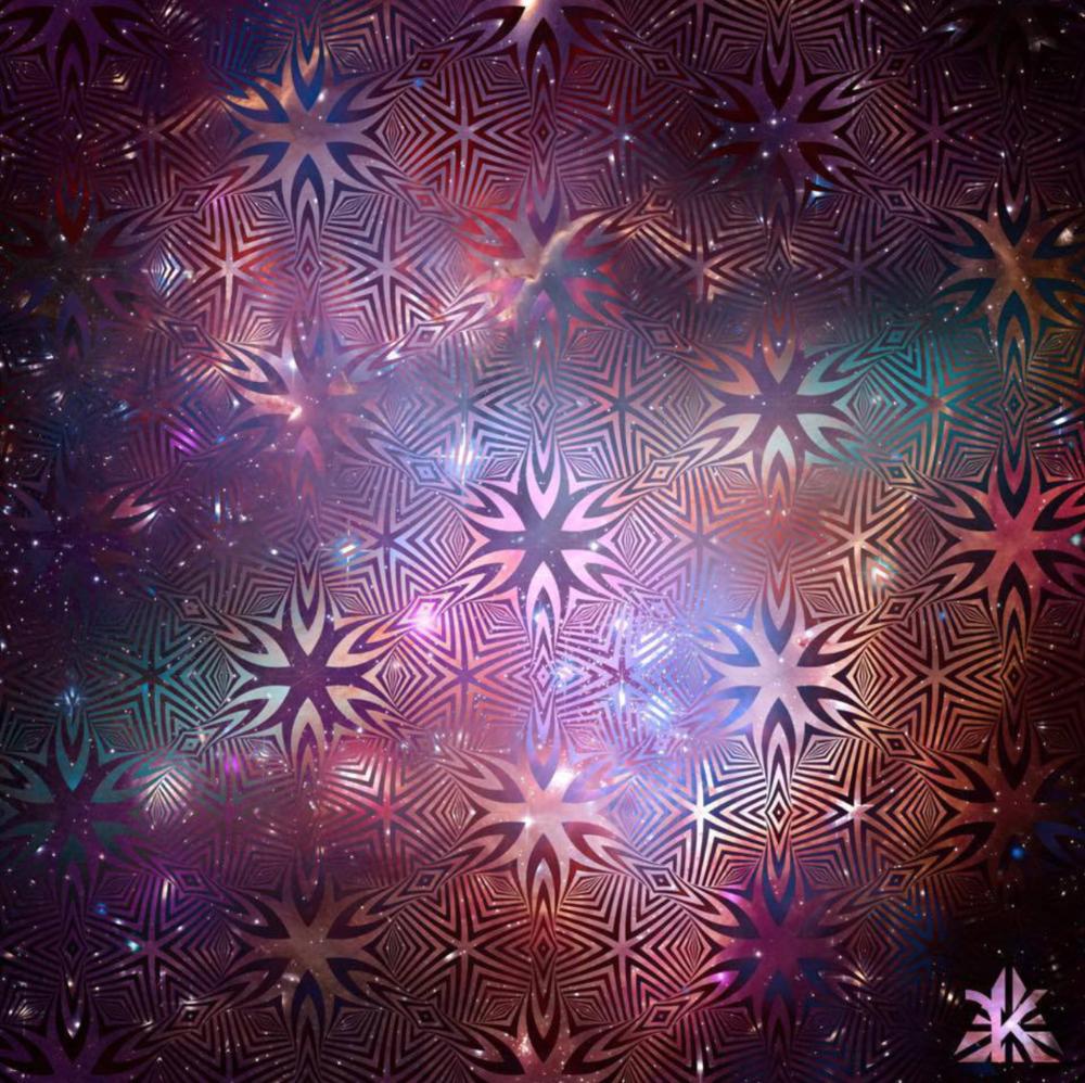 """Cosmic Optical Mandala"" by Rozbeh Kashani. Follow this incredible artist on Instagram @rooz_kashani!"