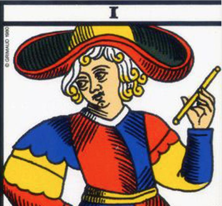 Magician Tarot Card I from Le Tarot de Marseille