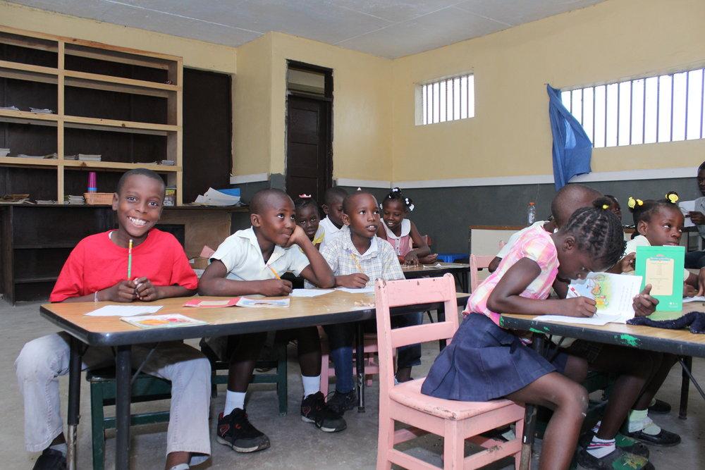 Classroom at Academie la Saline -