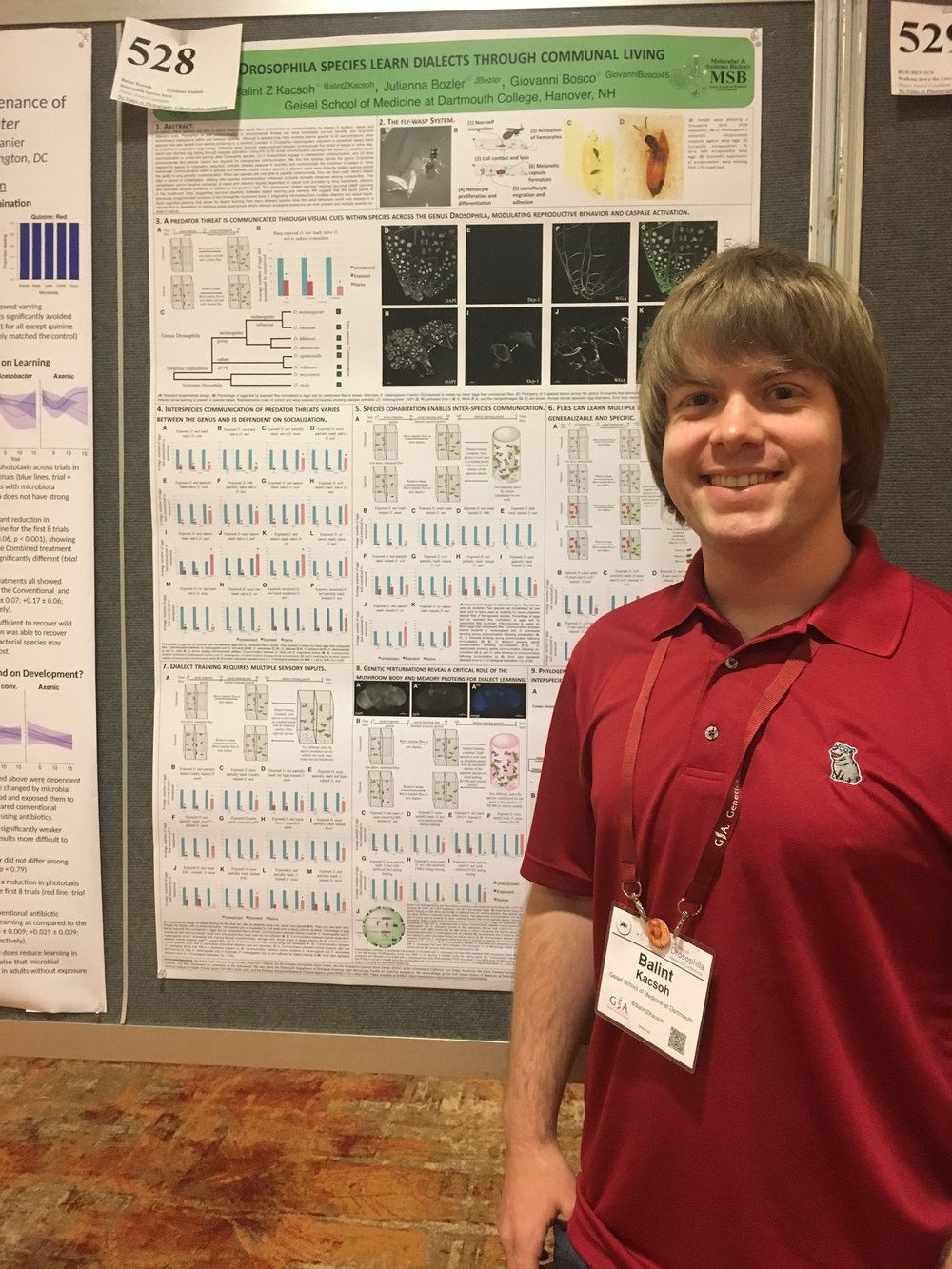 At the 59th Annual Drosophila Research Conference, Philadelphia, PA, 2018