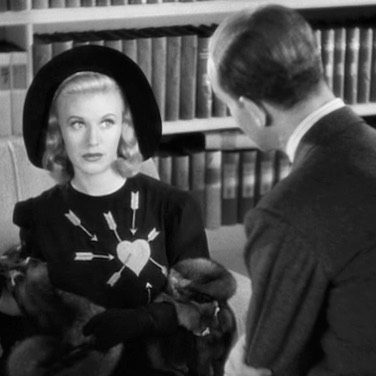 #FredAstaire as a psychiatrist attempting to cure #GingerRogers of her fear of marriage in #Carefree (1938).