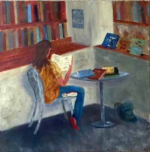 Library Corner  | Oil |  $360