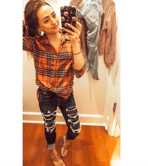 best plaid shirt ever  //  jeggings