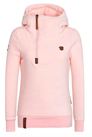I have this sweatshirt- amazing amazing quality and thickness. i'm in love and just might get the blue too!! only $39 on amazon