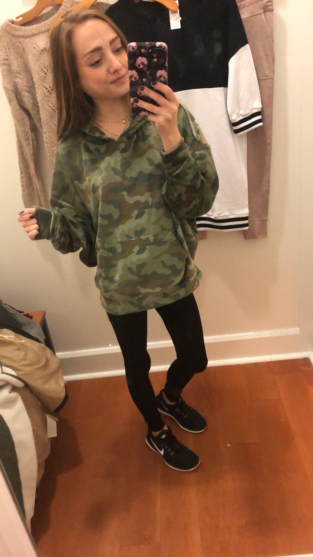 velour hoodie