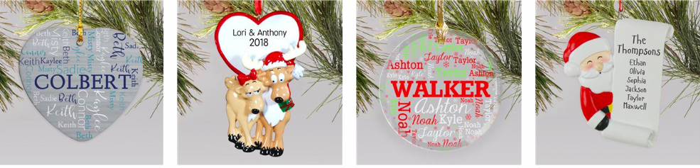 personalized ornaments for $9.98 with code: BDORNAMENT2018 at checkout!