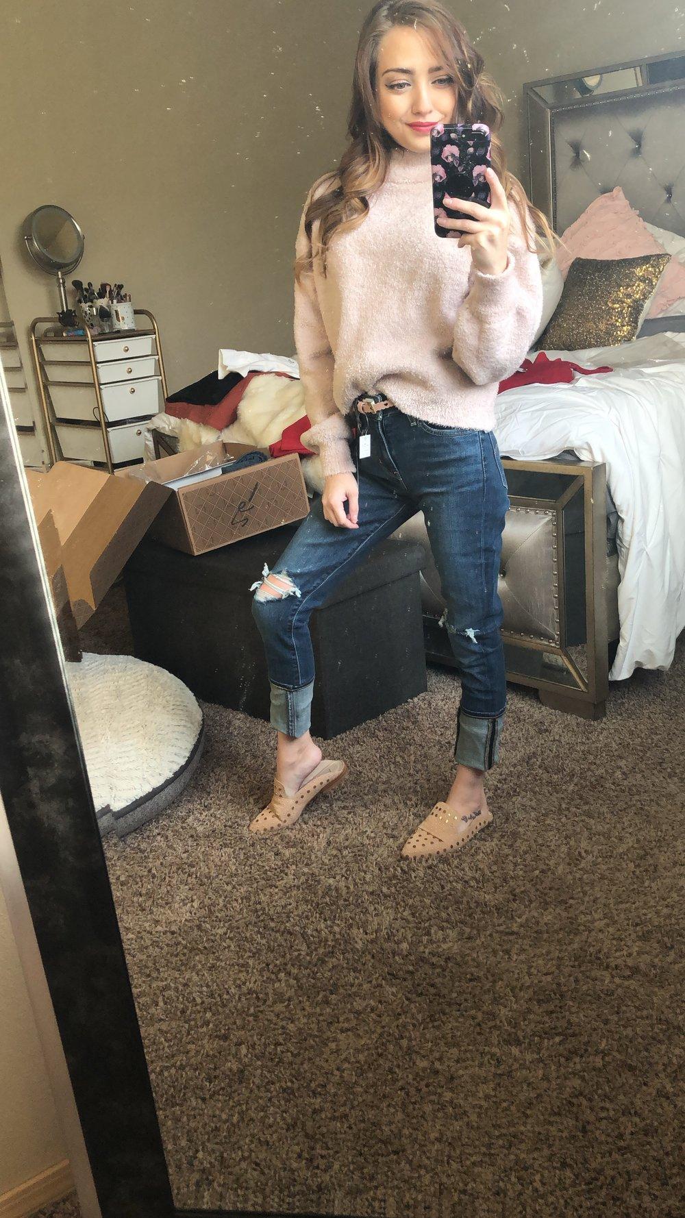levi jeans  //  flats