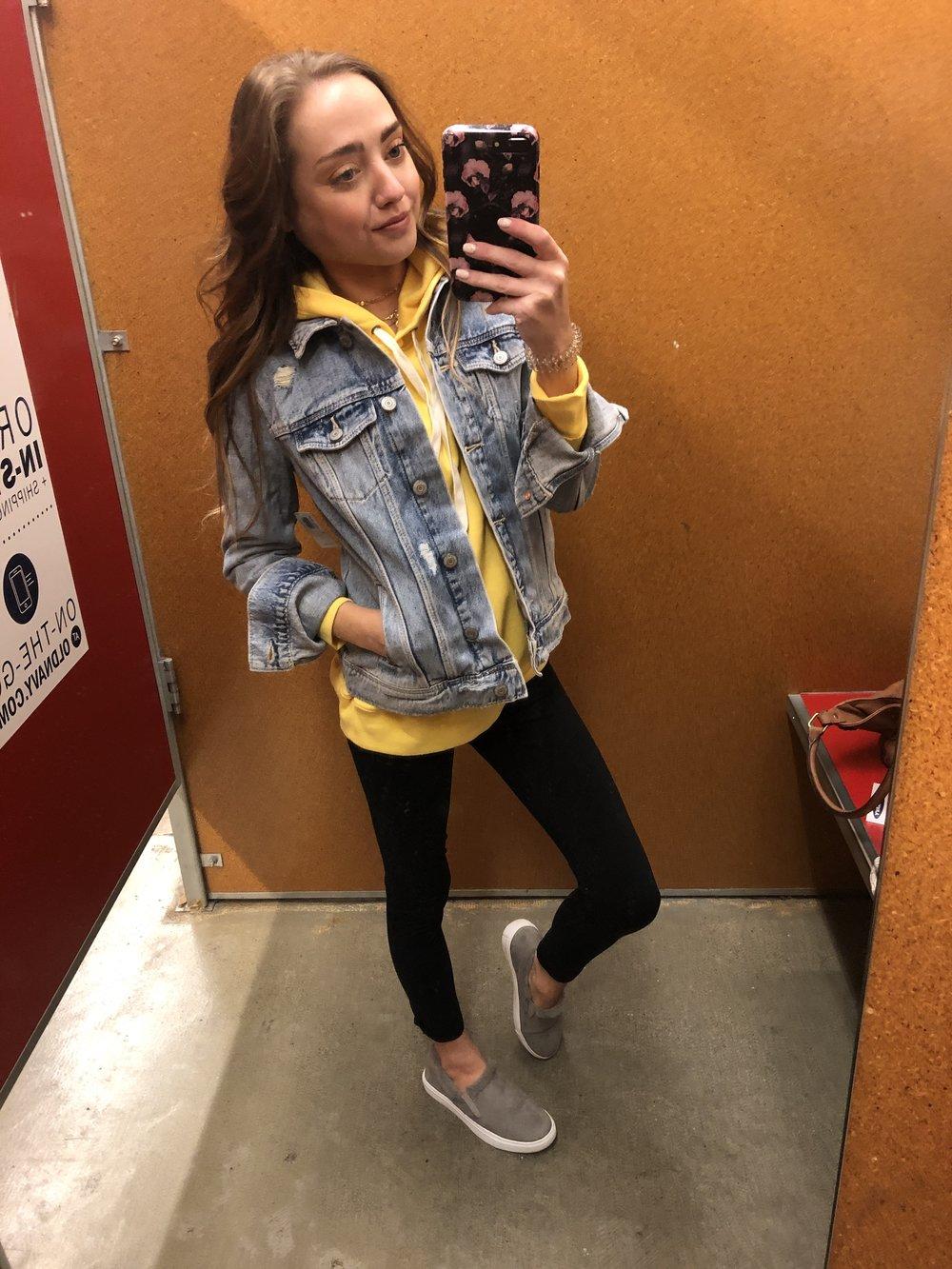 jean jacket  //  hoodie