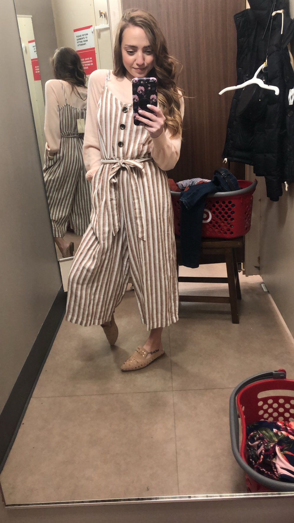 striped jumpsuit- size small