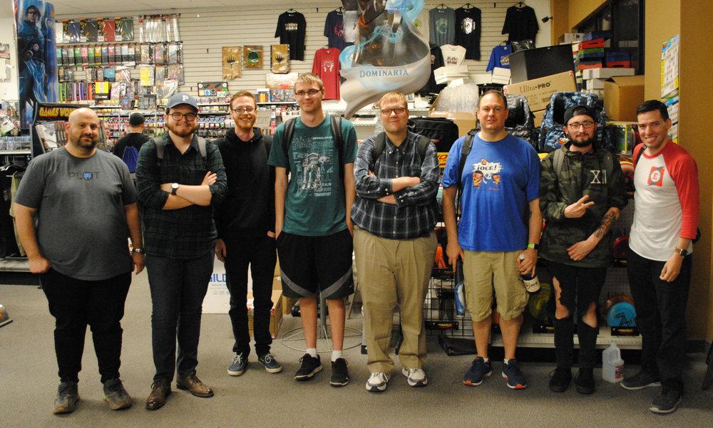 (from left to right) Brandon, Kyle, Dan, Alex, Justin, Tom, Jesse, & Franky