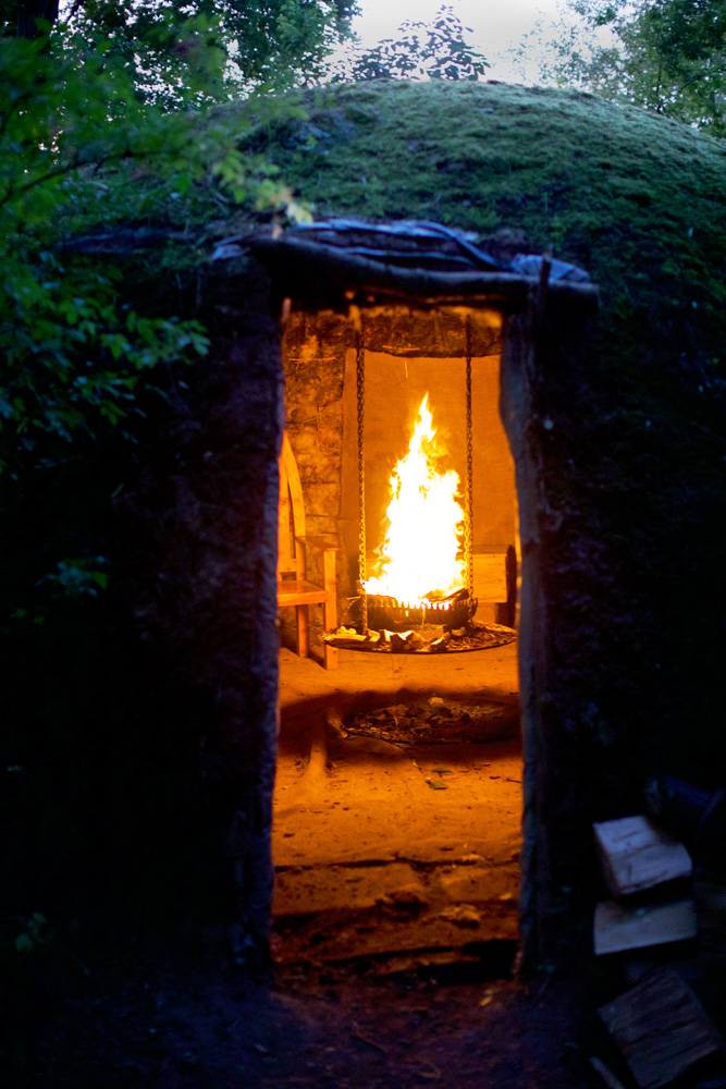 Brian's famous Mud Hut, for long talks and whiskies by the crackling turf fire.