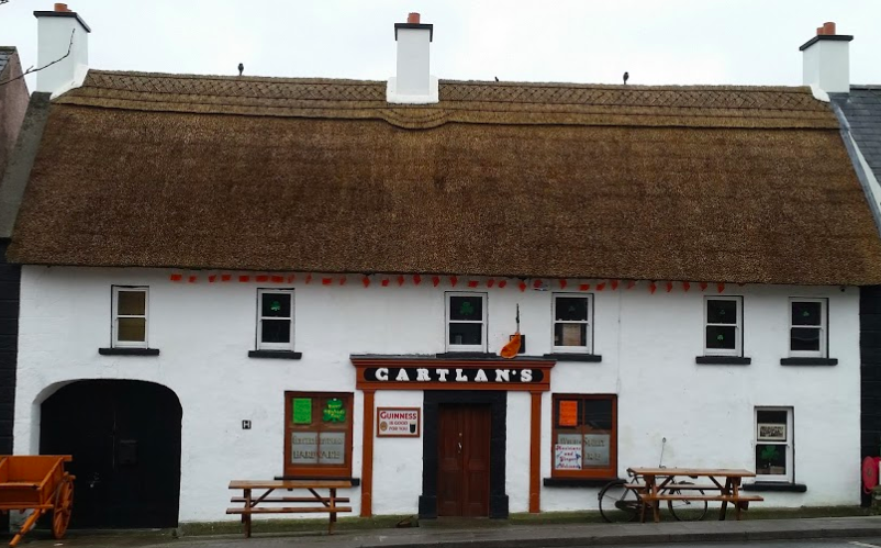 Enjoy live Irish traditional music in our local thatched Irish pub  Gartlans   established  in 1911 (10 min drive).