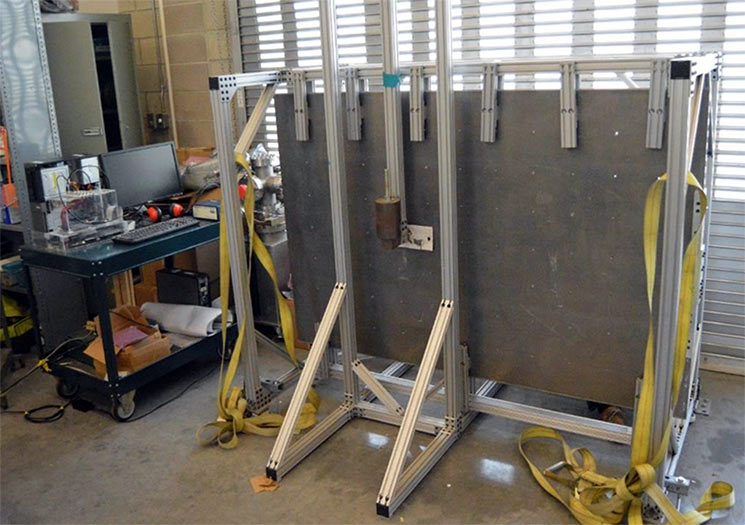 Cal Poly SLO's shock testing system.