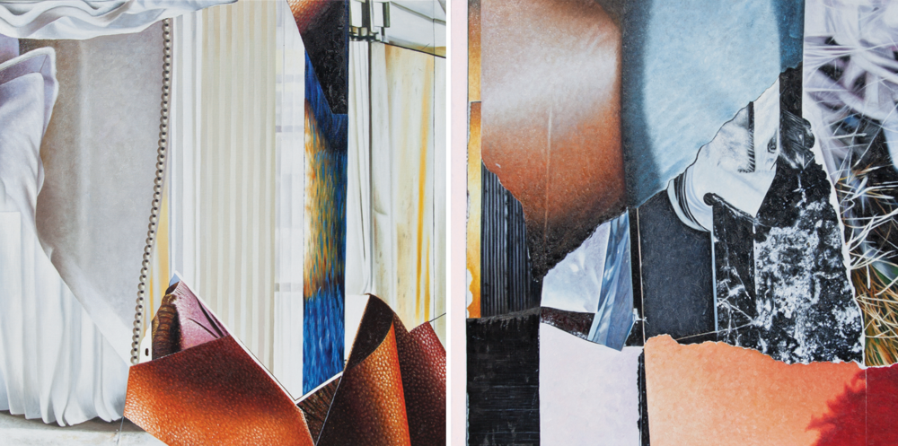 Afino Douzo - diptych 1 & iioil on canvas30 x 60