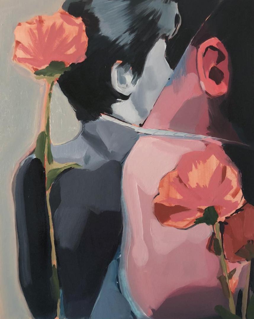 Blumen und Ohren - 16 x 20oil on panel$1,200
